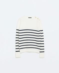 ZARA - NEW THIS WEEK - STRIPED SWEATER WITH SHOULDER BUTTONS
