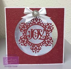Card made with Crafter's Companion Die'sire Prestige Christmas Only Words die. Designed by Caroline Weir #crafterscompanion