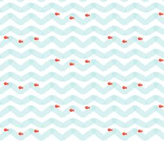 Coral Fish fabric by natitys on Spoonflower - custom fabric, maybe frame for bathroom art