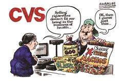 Jimmy Margulies - The Record of Hackensack, NJ - CVS stops selling tobacco products color - English - CVS, tobacco, cigarettes, pharmacies, ...
