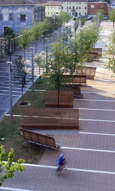 Tips On Urban Landscaping – My Best Rock Landscaping Ideas New Urbanism, Landscape And Urbanism, Landscape Design, Urban Furniture, Street Furniture, Contemporary Landscape, Urban Landscape, Parque Linear, Plaza Design
