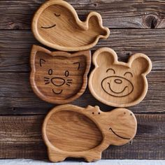 Kids animal snack wooden plate, wooden dishes plates, funny serving wood name dinner plate, custom name oak nut tree plate Wood Projects, Woodworking Projects, Animal Plates, Animal Snacks, Kids Plates, Wood Names, Cnc Wood, Wooden Plates, Wood Coasters