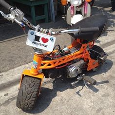 Mini Motorbike, Motorcycle Bike, Fast Go Karts, Bike Cart, Go Kart Plans, Diy Go Kart, Minibike, Honda Cub, Moped Scooter