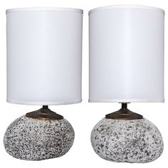 Pair of Quartz Table Lamps | See more antique and modern Table Lamps at http://www.1stdibs.com/furniture/lighting/table-lamps