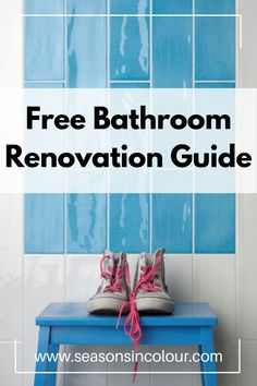 The Seasons in Colour Bathroom Renovation handy includes a breakdown of costs involved (even the ones you have not yet thought of!) and gives you plenty of ideas for your next project, including a handy checklist to get you going! #bathroom #seasonsincolour #makeover Family Bathroom, Budget Bathroom, Bathroom Gadgets, Sink Design, Bathroom Trends, Luxury Decor, Bathroom Colors, Small Spaces, Seasons