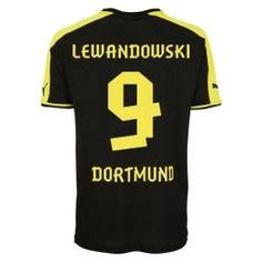 13-14 Borussia Dortmund #9 Lewandowski Away Black Jersey Shirt
