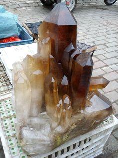 130lbs Smokey Quartz Crystal Cluster