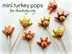 Sugar Swings! Serve Some: mini candy and cookie turkey pops....!