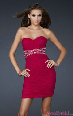 Hot Selling Sweetheart Ruched Empire Beaded Short Fashion Flattering Red Plus Size Cocktail Dresses