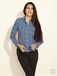 Checked Shirt With Rounded Hem