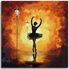 Ballet Dancer Painting by Corporate Art Task Force Ballet Art, Ballet Dancers, Ballerina Kunst, Ballerina Painting, Dance Paintings, Oil Paintings, Silhouette Painting, Fine Art, Amazing Art