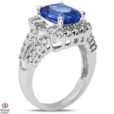Ebay NissoniJewelry presents - 1CT Diamond Fashion Ring with Tanzanite 14k White Gold  1CT    Model Number:FR8302K-W477TA    http://www.ebay.com/itm/1CT-Diamond-Fashion-Ring-with-Tanzanite-14k-White-Gold-1CT/321612045182