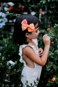The Sherbet Tie-Dye Bow - Wunderkin Co. Handmade hair bows for you baby, toddler or little girl and her free spirited style. Handmade by women in the usa and guaranteed for life.