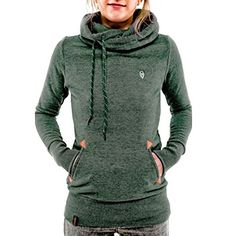 Zxzy Womens Long Sleeve Pocket Sweater Jumper Hoodies Sweatshirt Pullover Coat