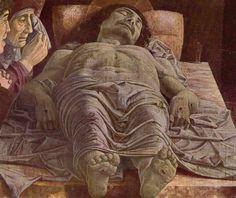 Andrea Mantegna. Beweinung Christi. Um 1490-1500, Tempera auf Holz, 66 × 81 cm. Mailand, Pinacoteca di Brera. Italien. Renaissance. KO 00551