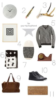 gift ideas for your hip boyfriend! - or, not so hip - but keep on trying, we like individuals now don't we ? -