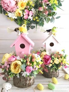 Easter Tree, Easter Wreaths, Spring Crafts, Holiday Crafts, Diy Osterschmuck, Diy Ostern, Easter Parade, Diy Easter Decorations, Easter Crochet