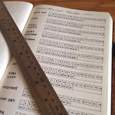 Tracker for various habits in your Bullet Journal®!