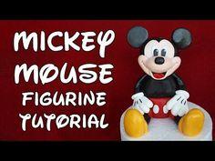 TheCakingGirl: Mickey Mouse Figurine Tutorial - Fondant Cake Decorating