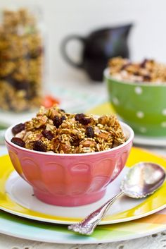 Lightened Up Summer Granola (Oil-Free & Reduced Sugar)