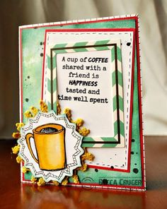 The Damsel of Distressed Cards: Introducing My Stamp Line - STAMPlorations Big Grins by Becca Cruger!!! #literarycaffeineations #sketchycoffeecups #stamplorations