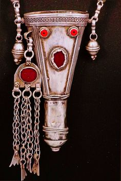 Antique Yemeni Bedouin Silver Kohl Necklace...via Litsa Kyriacopoulos