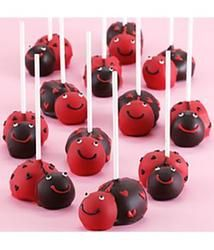 12 Valentine's Love Bug Chocolate Cake Pops-These Valentine's Love Bug Cake Pops are almost too cute to eat¦almost. Celebrate my love bug with 12 fudgy chocolate cake pops handmade in the shape of ladybugs with festive heart spots. Perfect as a snack during my home date.  #pintowinGifts @Gifts.com
