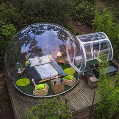 Free Fan Inflatable Bubble House Dia Outdoor Bubble Tent For Camping PVC Bubble Tree Tent/Igloo Tent Bubble Tree, Bubble House, Backyard Camping, Tent Camping, Family Camping, Outdoor Camping, Backyard Hammock, Hammock Bed, Family Tent