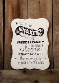 Superior Custom 9x12 Scalloped No Soliciting Sign. We Cut The Shape In House And  Route The