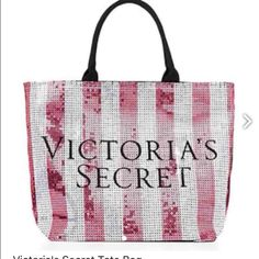 victorias sexret tote bag big shiny lovely tote bag, i have too many already PINK Victoria's Secret Bags Totes