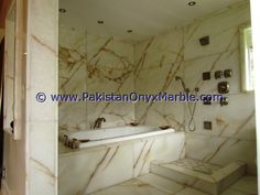 Onyx Marble, Bathroom Countertops, Green Onyx, Bathtub, Bathrooms, Design, Home Decor, Ideas, Standing Bath