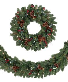 Woodbury Classic Noble Fir Artificial Christmas Wreath