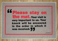 27 Pictures Of Funny And Unusual Doormats / Door Mats / djmick: V2