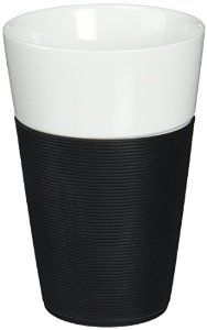 Amazon.com | Bodum Bistro 2 Piece Mug with Silicone Sleeve, 0.6 L, Black: Coffee Cups & Mugs