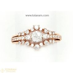 Diamond Rings for Women in 18K Gold -VVS Clarity E-F Color -Indian Diamond Jewelry -Buy Online Gold Diamond Rings, Diamond Jewelry, Gold Jewelry, Gold Rings, Women Jewelry, Indian Wedding Jewelry, Indian Jewelry, Quality Diamonds, Necklace Set