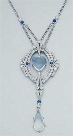 Fancy | White gold, moonstone, diamond & sapphire