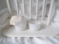 Vintage Milk Glass Custard Cups Small by SeasideRoseCreations, $19.00