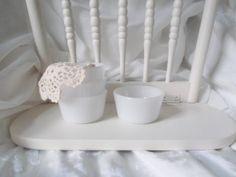 Vintage Milk Glass Custard Cups Small by SeasideRoseCreations, $19.00