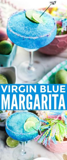 This Virgin Blue Margarita is a fun and refreshing drink to help you cool off all summer long. If you are looking for a non-alcoholic beverage to serve at your summer parties and backyard barbecues, you have found the perfect one! Source by pipandebby Non Alcoholic Margarita, Blue Margarita, Margarita Drink, Non Alcoholic Cocktails, Drinks Alcohol Recipes, Margarita Recipes, Virgin Margarita, Margarita Alcohol, Alcohol Punch