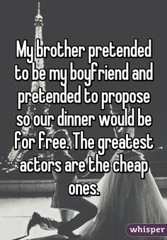 The Whisper App allows you to see secrets that have been posted by other users. Here's a collection of sibling confessions that prove brothers and sisters are the worst. [via smosh]