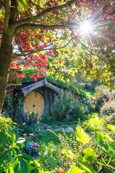 """Autumn in the Shire. Hobbiton Movie Set, Matamata, NZ."" From the Hobbiton Movie Set Facebook page #LotR #TheHobbit"