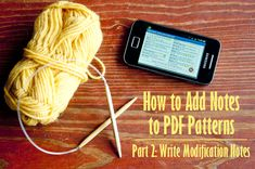 How to add notes to pdf patterns part 2