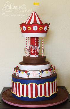 Carousel 1st Birthday Cake