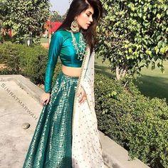 Buy Online Punjabi Wedding Lehenga Designer Collection Call/ WhatsApp us 77164 Indian Lehenga, Indian Gowns, Indian Attire, Indian Wear, Lehenga Choli, Sari, Brocade Lehenga, Choli Designs, Lehenga Designs