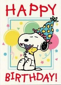 ┌iiiii┐                                                             Happy Birthday Snoppy and Woodstalk