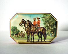Vintage Tin Box Canadian Mounties Horner Toffee by CalloohCallay