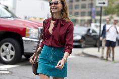Must-See Street Style From New York Fashion Week - Contenido seleccionado con la ayuda de http://r4s.to/r4s