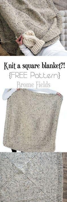 FREE Square Blanket Knitting Pattern
