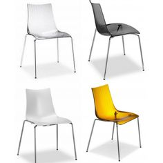 sedie impilabili in policarbonato modello glenda. sedie moderne di ... - Sedie Per Soggiorno Design
