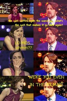 haha Emma. I love how she looks really quite concerned when she realises she doesnt know the answer!